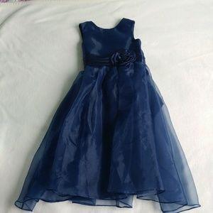 Other - Long formal flower girl dress little girls 4 navy